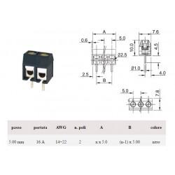 Morsettiera per PCB a due vie