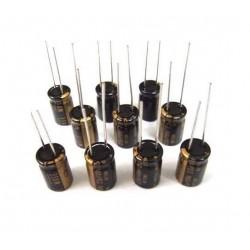 Nichicon Muse ES 33uF 6,3V, condensatore elettrolitico bipolare UES0J330MDM
