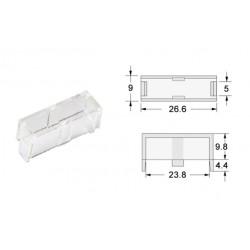 Calotta trasparente per portafusibile 5x20 da PCB
