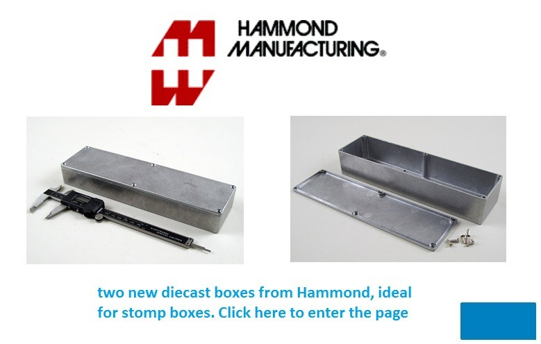 Hammond new diecast boxes 1590BX